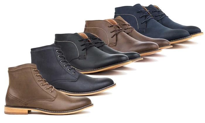 Harrison Men S Dress Boots Navy 8 Check Back Soon Blinq
