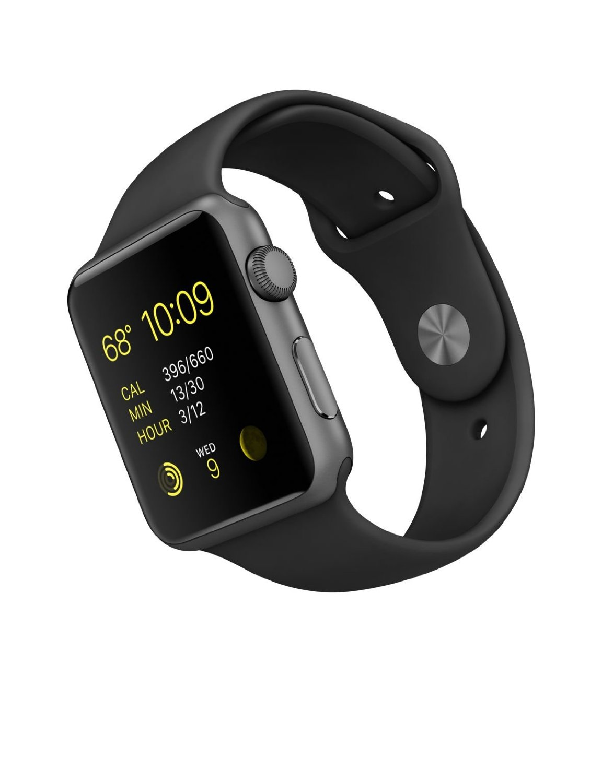 big sale a732e b98c2 Apple Sport Watch - Space Gray Aluminum Case-Black - Size: 42mm ...
