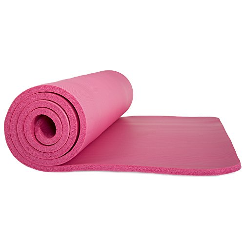 Wakeman Fitness Extra Thick Yoga Exercise Mat 71 X 24 X 0.5 Blue