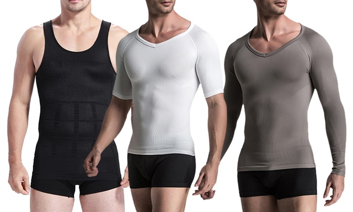 762e2c2c ... Extreme Fit Men's Long Sleeve Compression Shirt - Grey - Size: Large ...