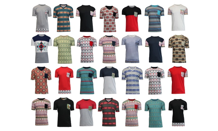 6cff43ac Galaxy by Harvic Men's Mystery Printed T-Shirt - Multi - Size: M ...
