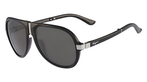 899e9b46cc264 Salvatore Ferragamo SF662SP-1 56mm Men s Round Sunglasses - Black ...