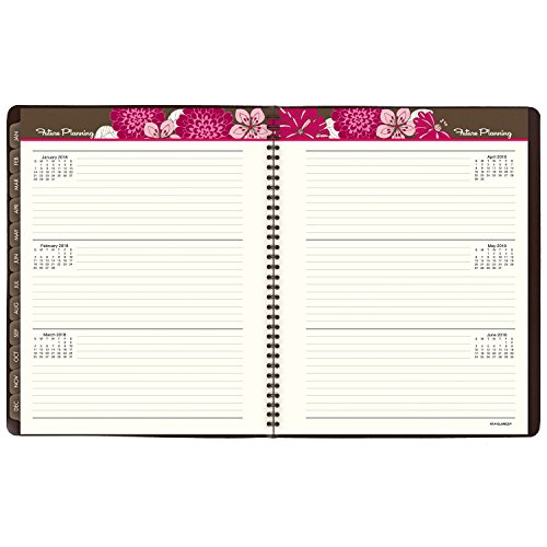 at a glance monthly planner appointment book 2017 brown pink