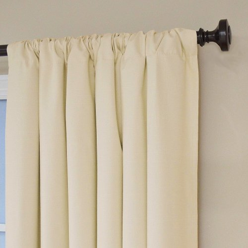 Ivory Eclipse 42 Width X 84 Length Kendall Blackout Curtain Panel