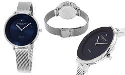 Sthrling Original Women's Diamond Mesh Dress Watch - Silver/Blue