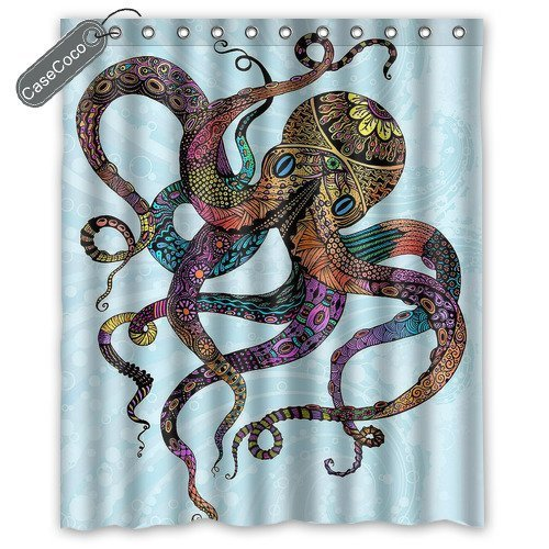Ambesonne Nautical Shower Curtain Sea Creatures D Check Back Soon Blinq