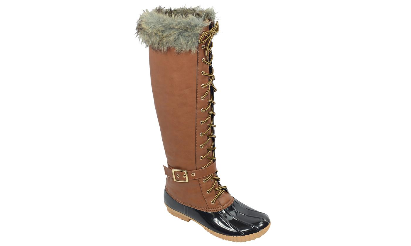 Mata Women's Cold-Weather Waterproof Snow Tall Boots - Tan