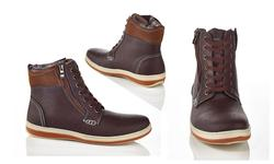 Henry Ferrara Carlos Men's Lace-Up Boots - Brown - Size: 13