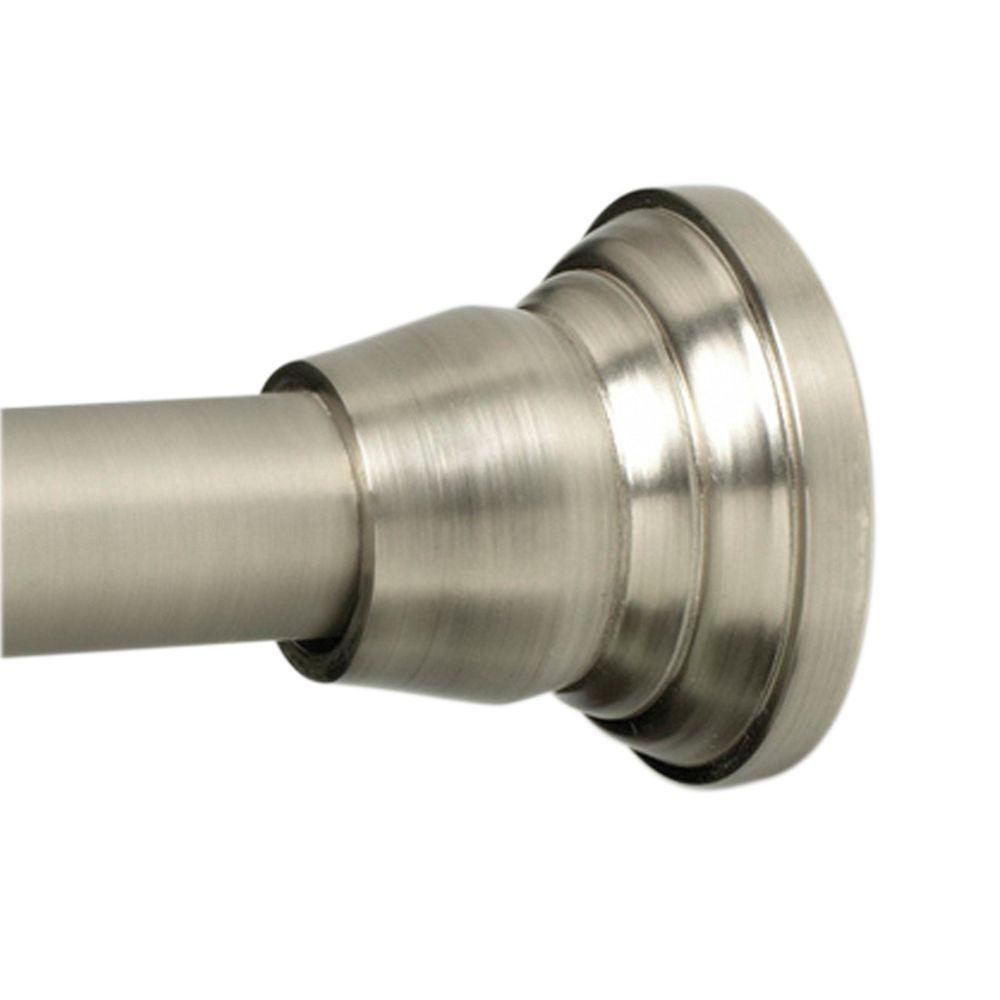 Glacier Bay Tension Shower Rod Installation.Glacier Bay 72 Rustproof Decorative Tension Shower Rod Nickel