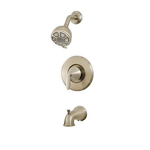 Pfister Brea 1-Handle 3-Spray Tub and Shower Faucet in Brushed ...