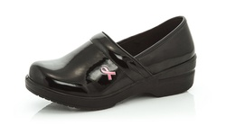 Women's Breast Cancer Awareness Clogs - Black - Size: 8.5 1200788