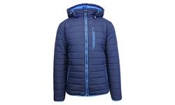 Spire By Galaxy Men's Heavyweight Puffer Jacket - Navy/Royal - Size: XL
