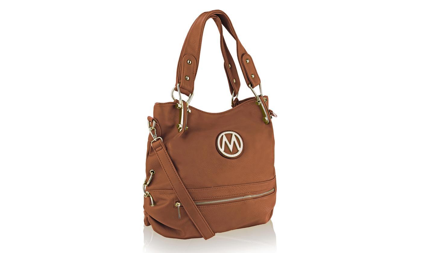 Mia K Farrow Women S Classic M Designer Handbags Camel