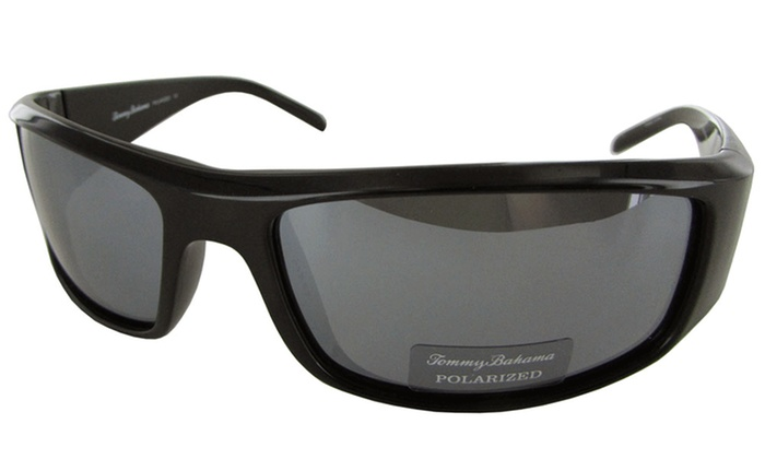 3cc47f90719 Tommy Bahama Mens Dock of Ages Polarized Sunglasses - Black - Check ...