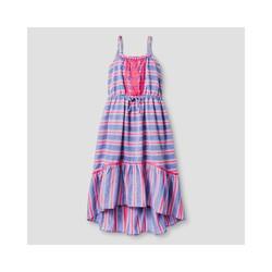 Cat & Jack Girls' Stripe Maxi Dress - Blue Stripe - Size: S (6/6X)