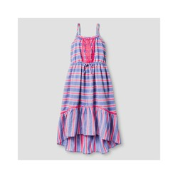 Cat & Jack Girls' Stripe Maxi Dress - Blue Stripe - Size: M (7/8)