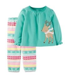 Carter's Girls' Pajamas Sets - Aqua - Size: 12M - Master Pack Qty 12
