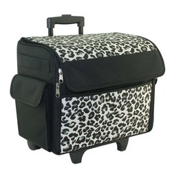 Everything Mary Rolling Sewing Machine Tote, Cheetah