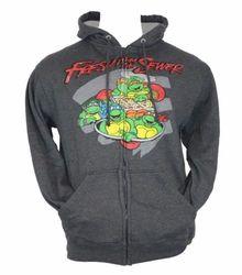 TMNT Zip up hoodie Sweatshirt - Grey/Blue - Size: M
