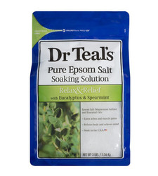 Dr. Teal's Relax & Relief Pure Epsom Bath Salt Soaking Solution - 1 lb