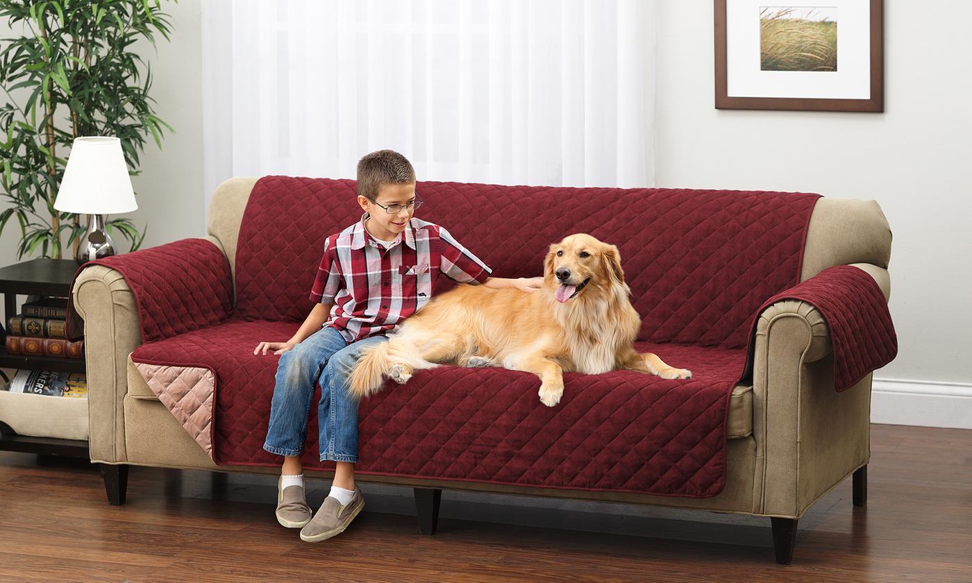 Reversible Furniture Protector For Sofa Wine Mocha Blinq