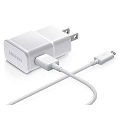 Samsung Travel Adapter & Cable Wall Charger w/ Detachable Data Cable