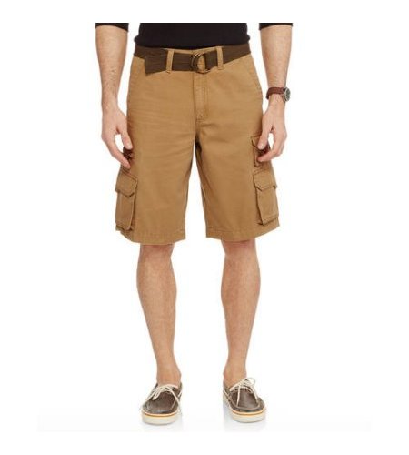 484502c003 Faded Glory Men's Stacked Cargo Short - Outpost Brown - Size: 36 ...
