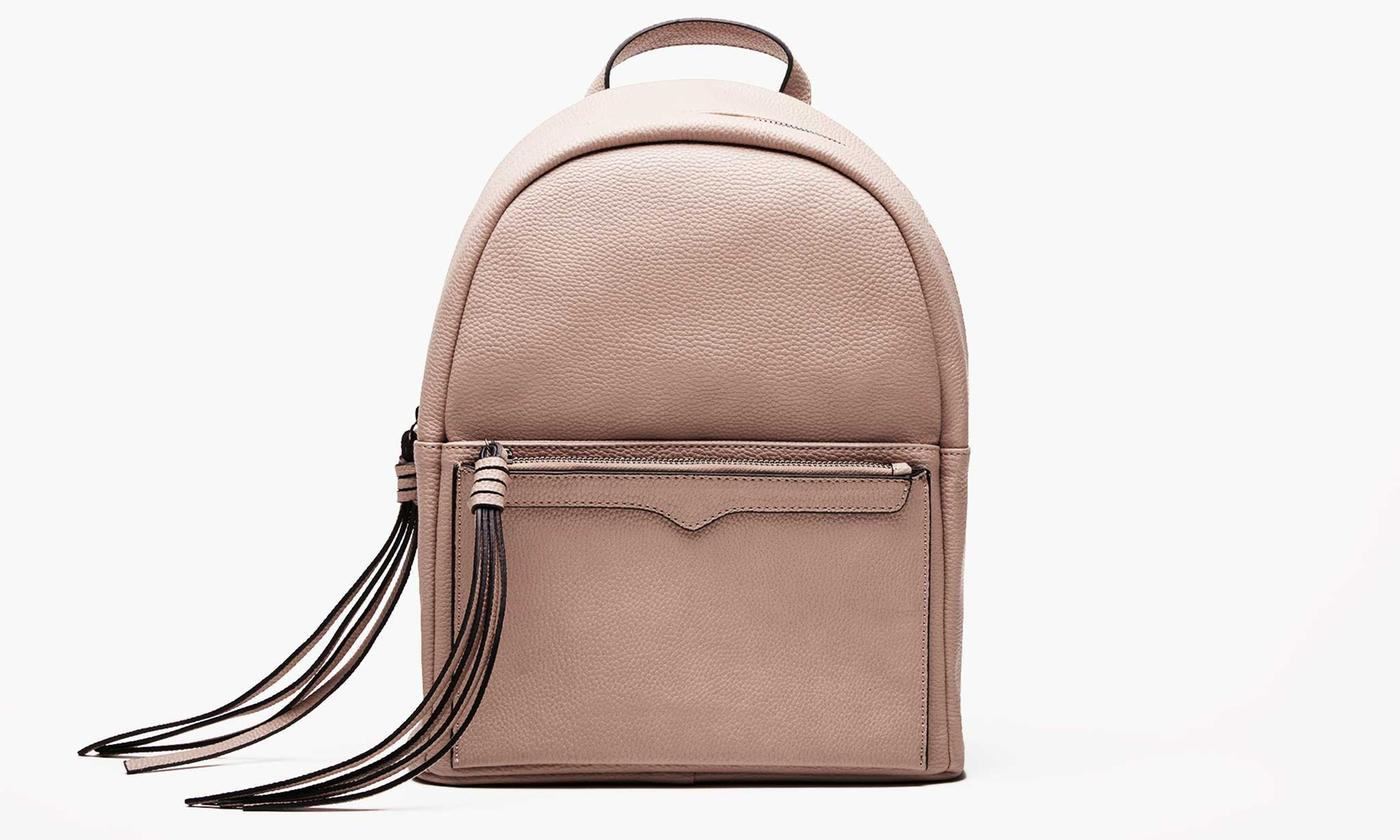 Brown Faux Leather Backpack Womens- Fenix Toulouse Handball 91a477ed68900