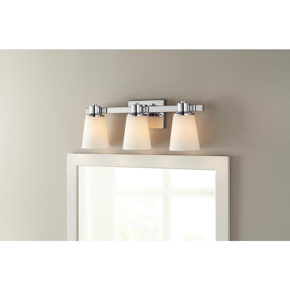 Home Decorators 3 Light Bath Vanity Light Chrome 15343 Check Back Soon Blinq