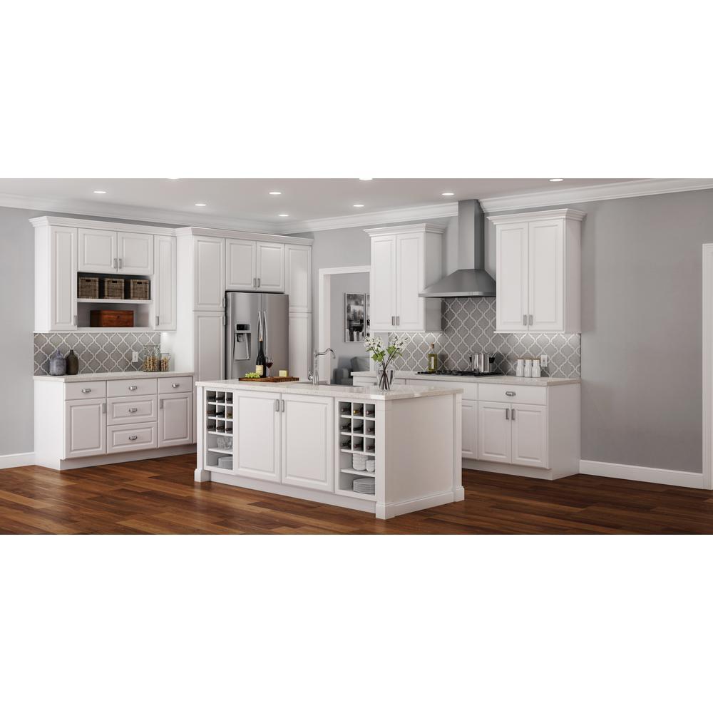 Kitchen Wall Cabinet   Satin White Hampton Bay 30x18x12 In. Kitchen Wall  Cabinet   Satin White ...