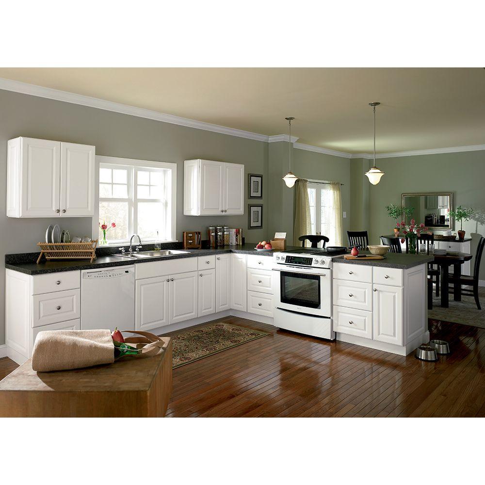 Hampton Bay 30x18x12 In. Kitchen Wall Cabinet   Satin White ...