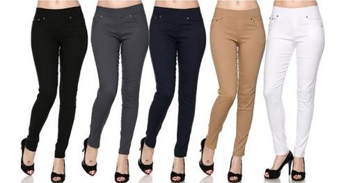 175d1ca75901 Women's Slimming 5-Pocket Skinny Pants 3-Pack: Black/White/Navy - 1X ...