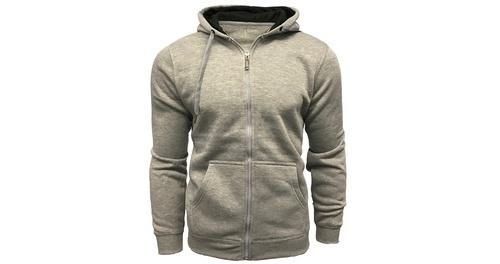 2f6d6cd535 ... Logan   Martin Men s Fleece-Lined Zip-Up Hooded Sweatshirt - Grey ...