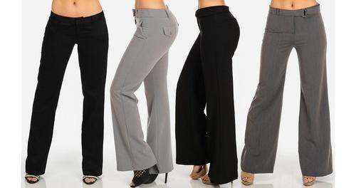 Oc Womens Juniors Low Rise Dressy Work Pants Style Black Size