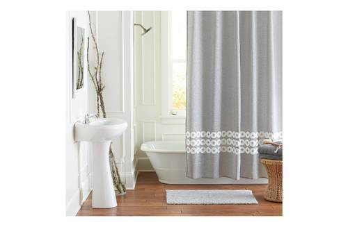 Threshold Shower Curtain Circles - Grey - Size: One - Check Back ...