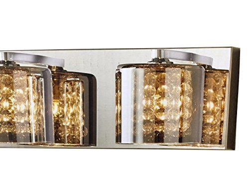 Home decorators 4 light vanity light w tinted glass chrome 16420