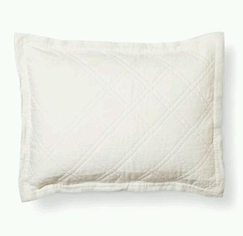 theshold linen cotton blend pillow sham white size. Black Bedroom Furniture Sets. Home Design Ideas