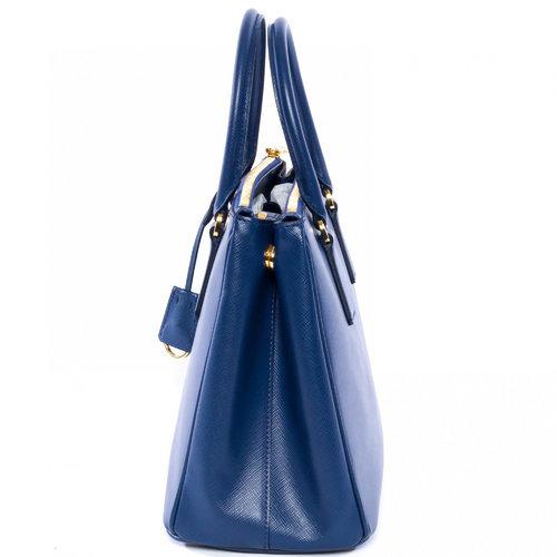 111fc0c6b42d Prada Saffiano Leather Tote Handbag - Blue (1BA801) - Check Back ...