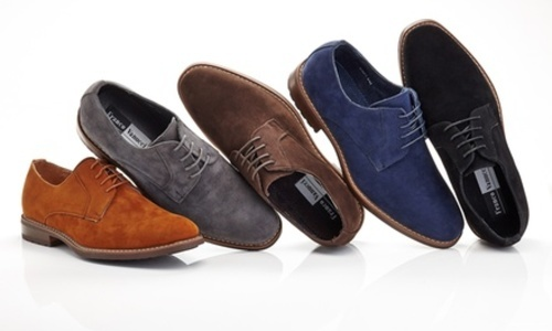 Franco Vanucci Mens Oxford Suede Dress Shoes Tan115 Check Back