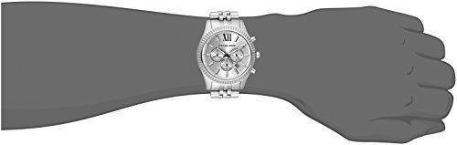 410e67edaf73 Michael Kors Men s Lexington Silver-Tone Watch MK8405 - Check Back ...