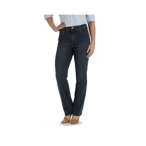 aef02eb3 ... Lee Women's Relaxed Fit Straight Leg Jeans - Dark Blue - Size: 8 Short  ...