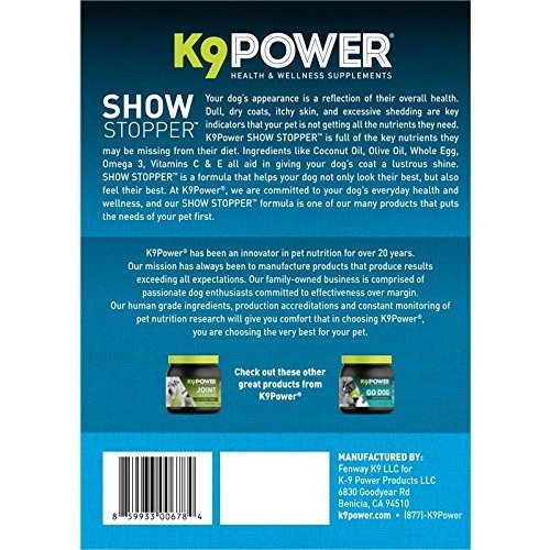 K9 power show stopper dog coat skin formula check back for Show stopper equipment