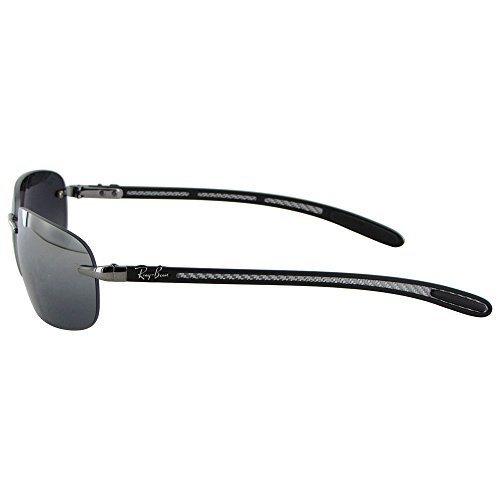 92b9d34a8f202 ... Rayban Tech Carbon Fiber Polarized Sunglasses - Silver Gray - (RB 8303)  ...