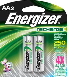 Energizer NH15BP-2 AA Nickel Rechargeable Batteries