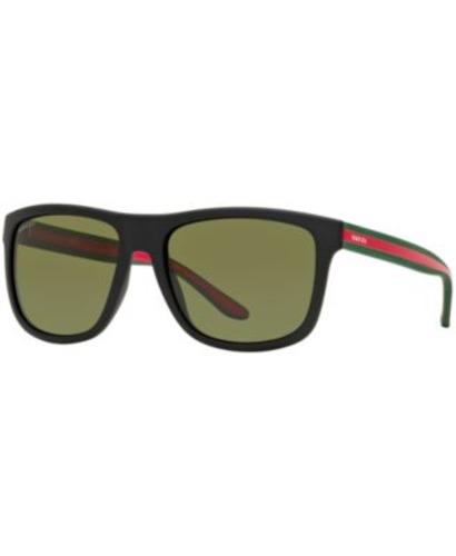 e37bac8679 Gucci Men s 57mm Wayfarer Sunglasses - Black Green Red (GG1118 S ...