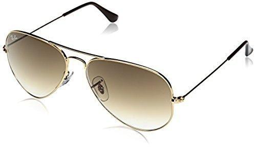 Ray-Ban Aviator Sunglasses - Gold Frame/Crystal Brown Lens - Check ...