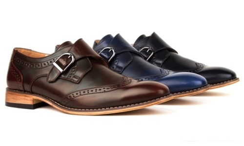Gino Vitale Men S Monk Strap Shoes