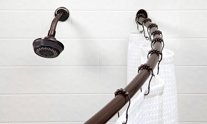 Bath Bliss Curved Shower Curtain Rod