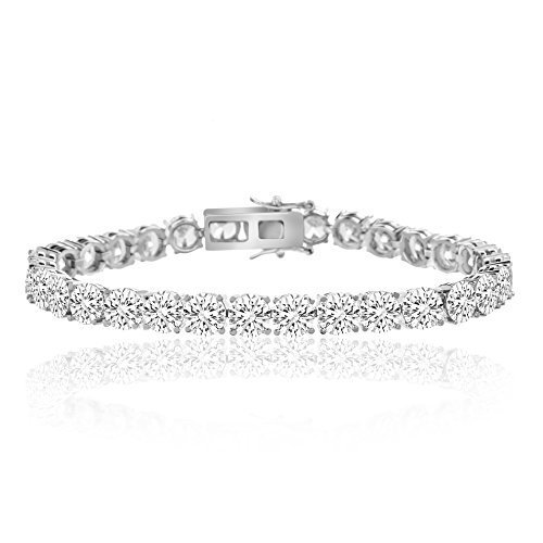 Swarovski Angelique Paris 42 00 Cttw Crystals Tennis Bracelet Silver