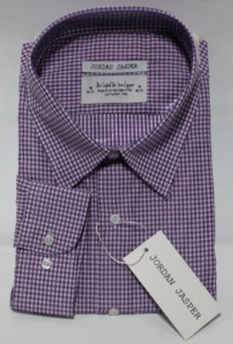 5dec1ca2cfccd6 Men s Jordan Jasper Dress Shirt - Checked White Purple - Size  16.5 ...